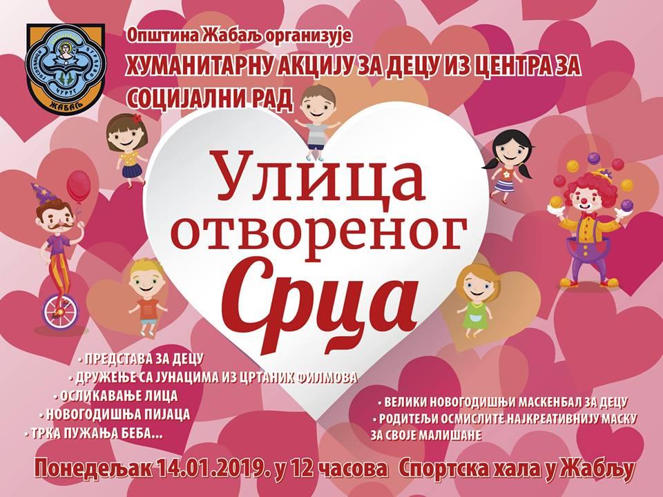 NOVOGODIŠNJA HUMANITARNA MANIFESTACIJA ULICA OTVORENOG SRCA: Bogat dečji program u Žablju